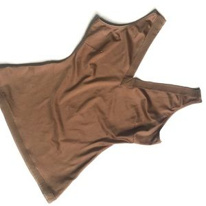 SPANX Tan V Neck Shaping Camisole